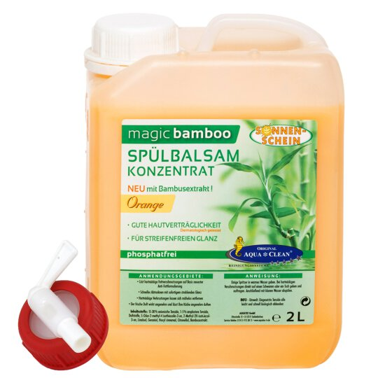 Aqua Clean magic bamboo Spülbalsam 2L Orange