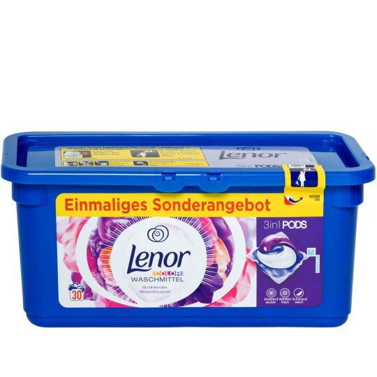 Lenor Color Waschmittel Pods 3in1 Blütenbouquet 30WL 792g