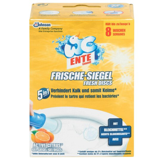 WC Ente Frische-Siegel 6 Siegel Active Citrus 32ml