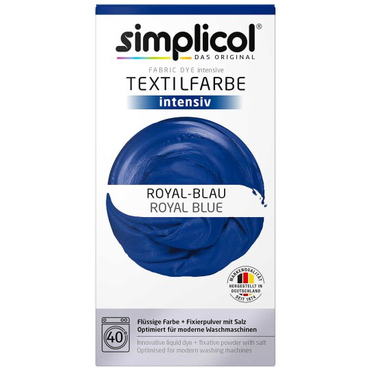 simplicol Textilfarbe Intensiv Set Royal-Blau