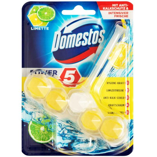 Domestos Power 5 WC Stein Limette 55g