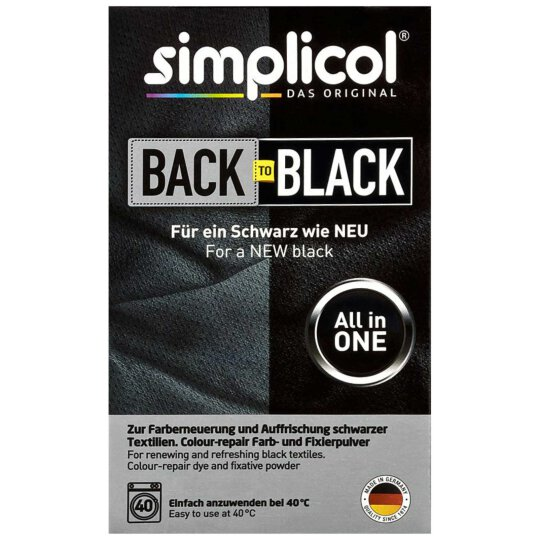 simplicol Back to black all-in-1 Textilfarbe 400g