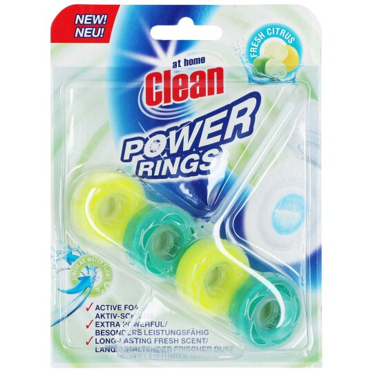 at home Clean WC Stein Power Rings fresh Citrus 40g