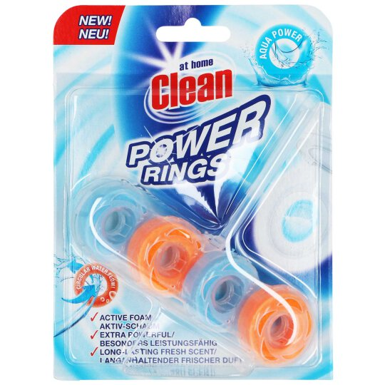at home Clean WC Stein Power Rings Aqua Power 40g