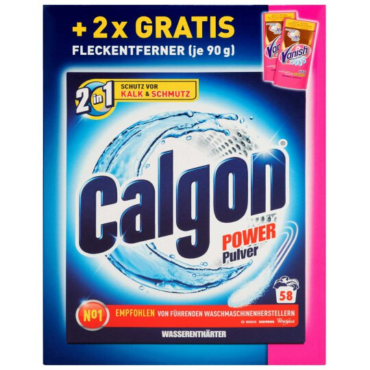 Calgon Power Pulver 58WL + Vanish Gold 2x90g
