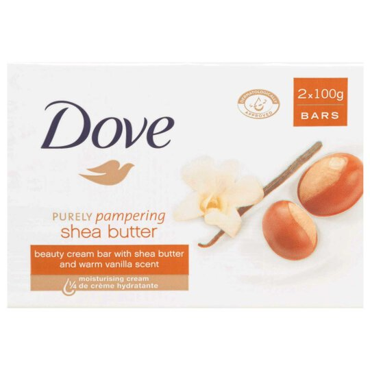 Dove Cream Bar Shea Butter Vanille 2x100g