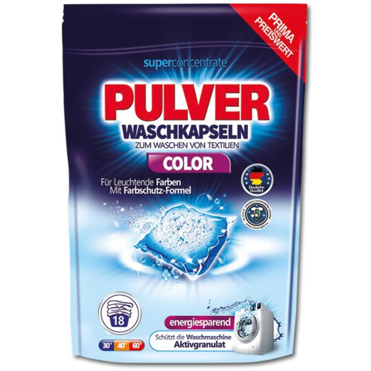 Aquamarin Waschpulver Caps Color 18WL 360g
