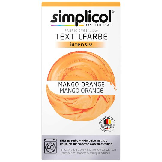 simplicol Textilfarbe intensiv Set Mango-Orange