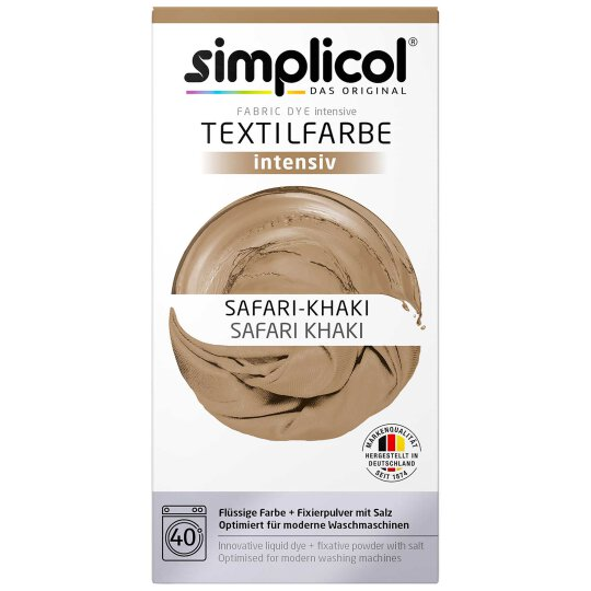 simplicol Textilfarbe intensiv Set Safari-Khaki