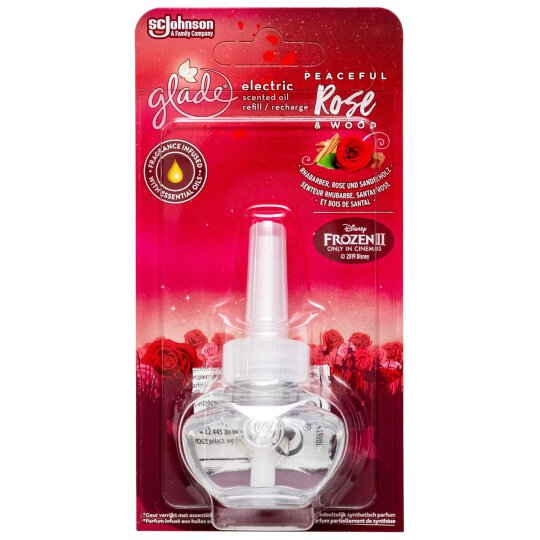 glade electric Scented Oil Peaceful Rose Wood 20ml