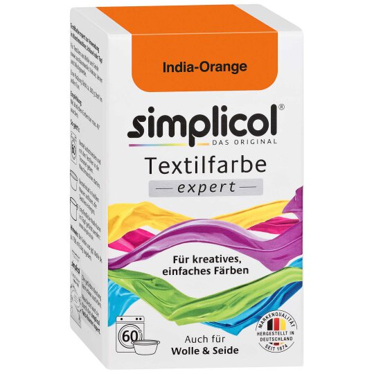 simplicol Textilfarbe Expert India-Orange 150g