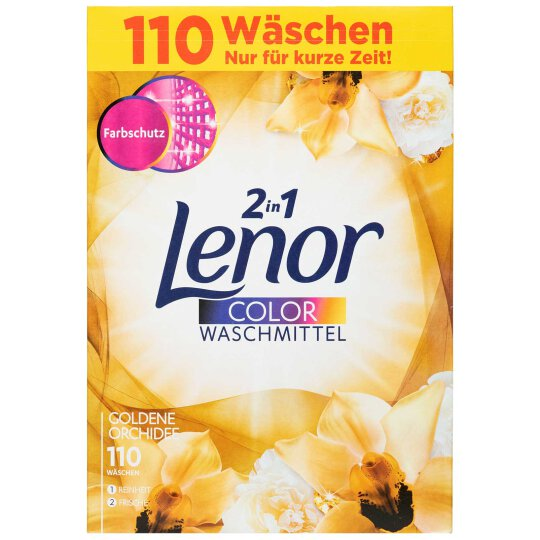 Lenor Color Pulver Goldene Orchidee 110WL 7150g